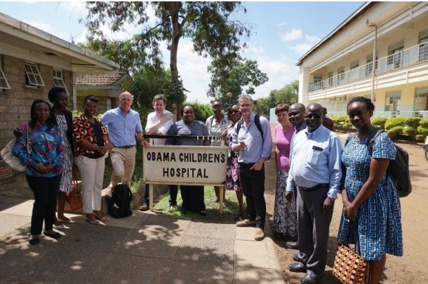 Outside the Obama Children's Hospital at the Jaramogi Oginga Odinga Teaching and Referral Hospital, Kisumu