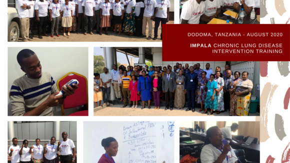 Collage of images taken during training in Dodoma, Tanzania