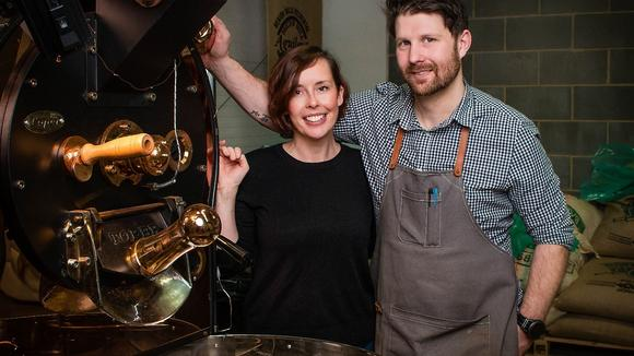 Baristocracy Coffee Roasters owners, Kate Hudson and Alex Forsyth